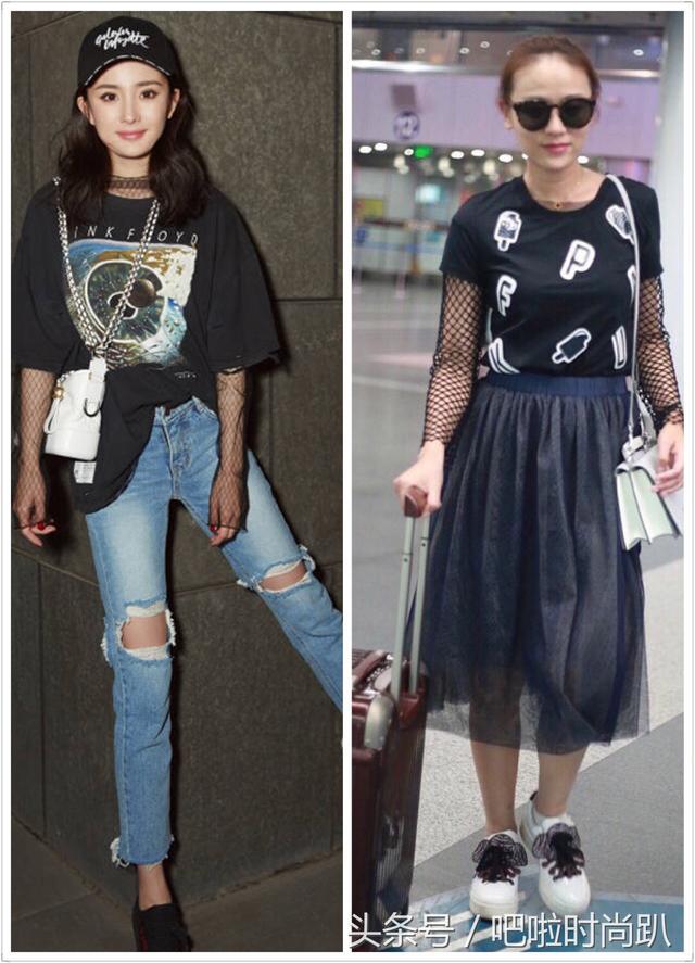 32岁叶一茜为赶时髦学杨幂穿渔网衣,只差两岁,差距怎么这么大