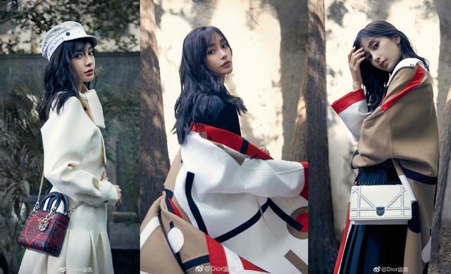 辣妈Angelababy受邀Dior品牌大使,形象宣传照优雅迷人
