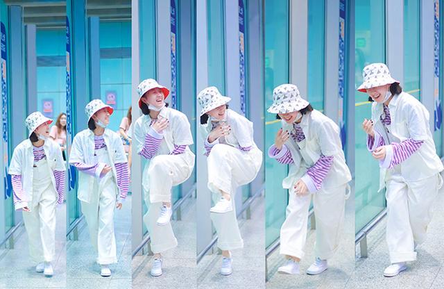李子璇清爽造型现身机场,没想到开启了101美少女的初恋裤新潮流