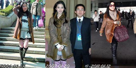 原来刘亦菲早期私服也这么辣眼睛,奇特混搭实力演绎有颜任性!