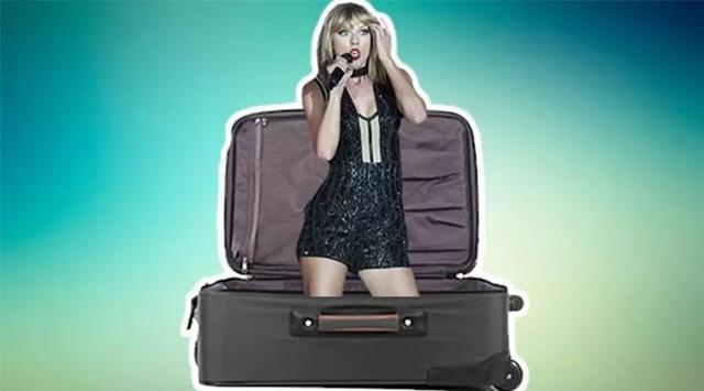 为了躲狗仔,霉霉藏进旅行箱 可这算什么啊!