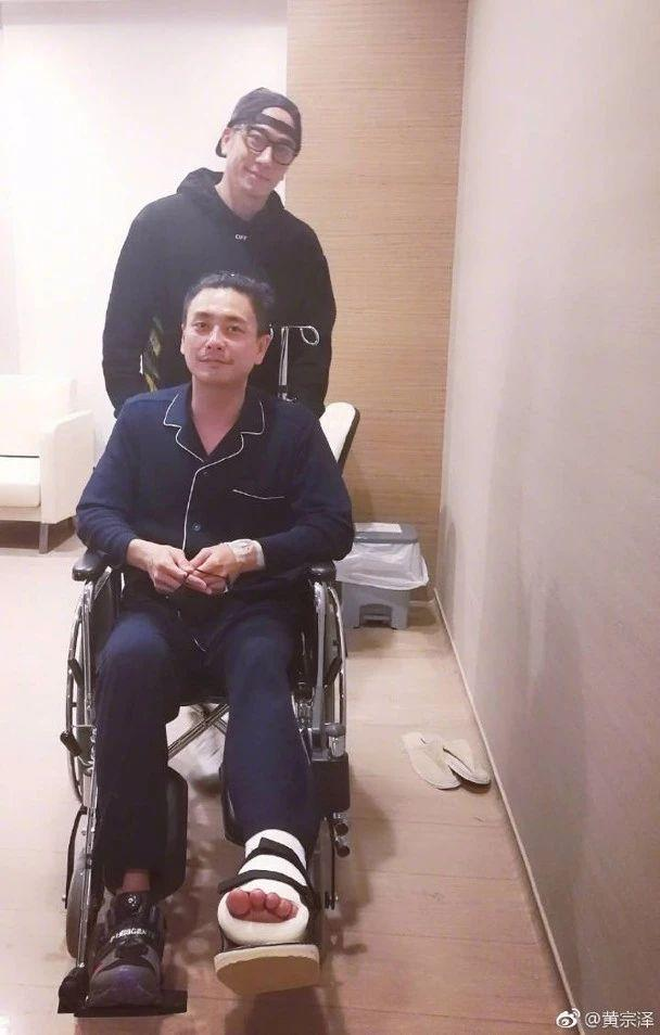 突发!黄宗泽拍《飞虎2》期间发生意外 送院脚掌骨折开刀手术