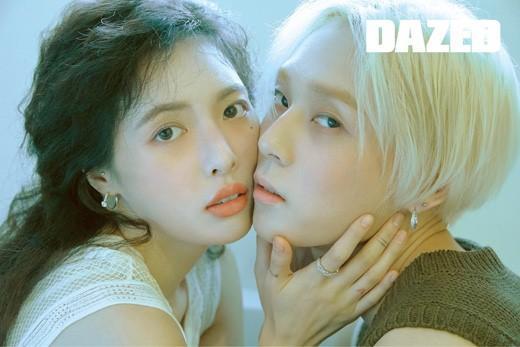 韩国明星情侣泫雅E