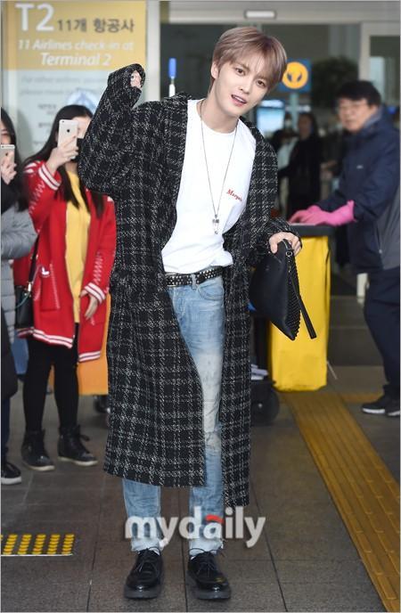 韩国男团JYJ成员金在中飞往中国台湾举行粉丝见面会