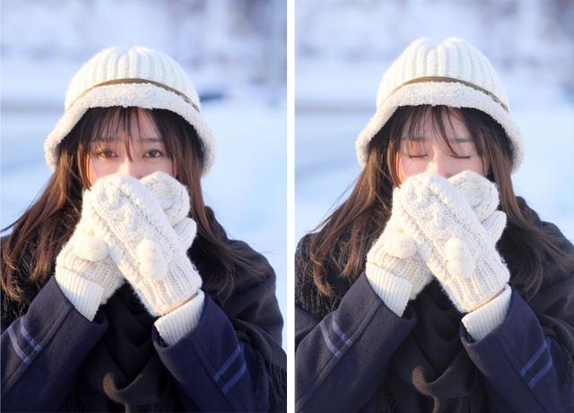 """不同于荧幕上""""白月光""""的温婉端 秦岚就成了雪地里一道最靓丽的风"""