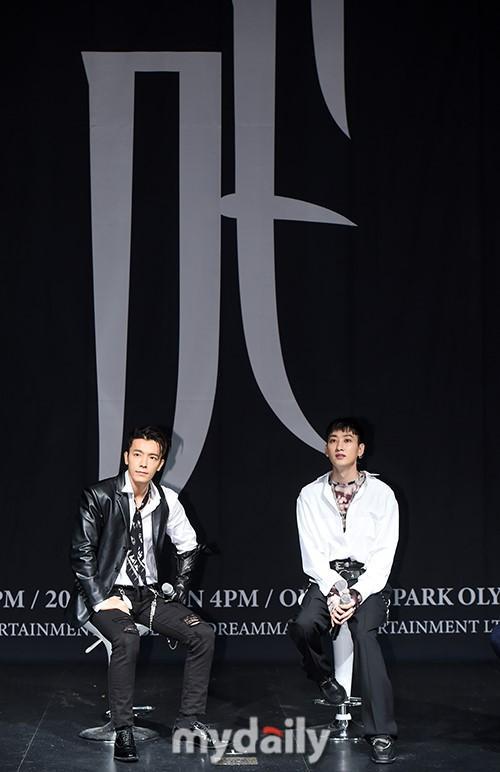 Superjunior东海银赫出席新专辑发布会