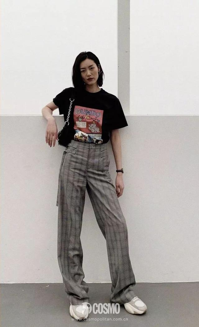 衬衫配仔裤,T恤配西裤,大表姐我们交个朋友~