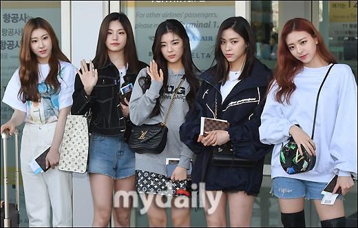 韓國女團ITZY飛往美國紐約參加時裝秀