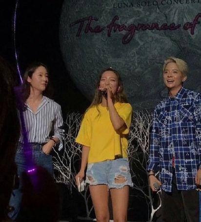 luna首次个人演唱会,郑秀晶、amber现身演唱会