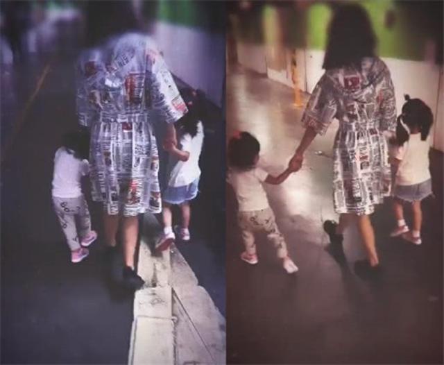 贾静雯与前夫同框后一家5口外出,梧桐妹和2个妹妹相处好有爱