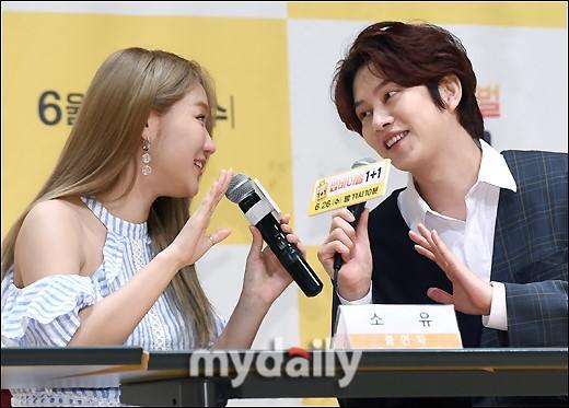 金希澈昭宥等韩国艺人出席KBS2TV新节目发布会