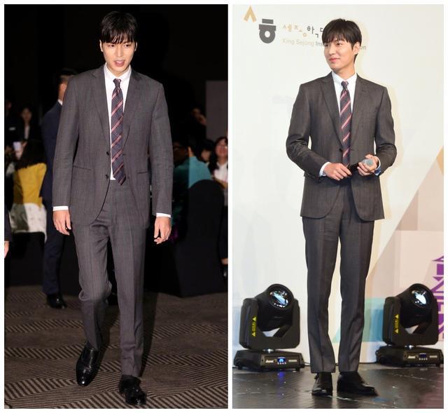 李敏镐退伍后状态依旧,187穿西装秀出优越比例,长腿让人羡慕
