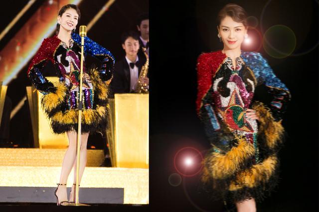 刘涛又放飞,将五彩斑斓的颜色穿身上太吸睛,踩高跟秀舞技炫唱功