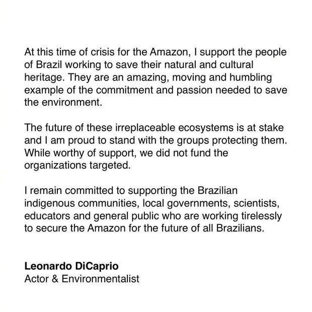 小李回应亚马逊雨林纵火:我没有
