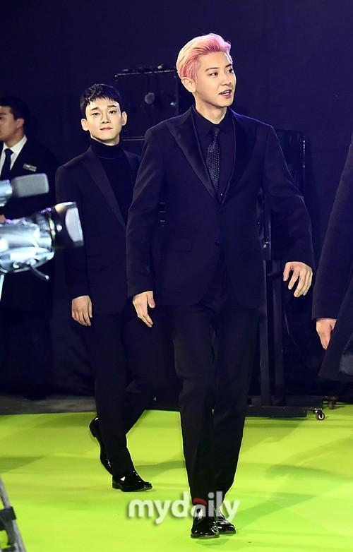 韩国偶像组合EXO出席《鬼影特攻:以暴制暴》宣传活动