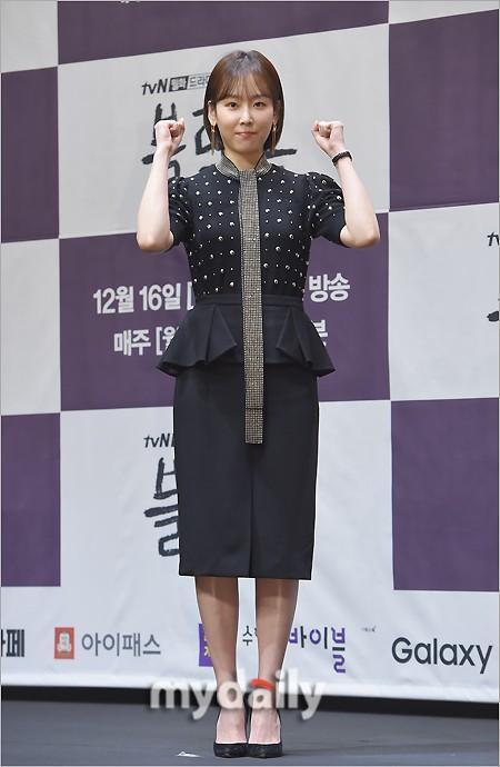 徐玄振罗美兰等艺人出席tvN新剧《黑狗》发布会