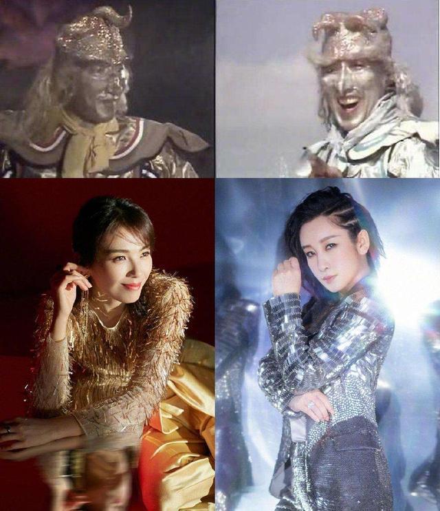秦海璐刘涛大玩亲亲!合体演出被称像在ktv,服装宛如金银角大王