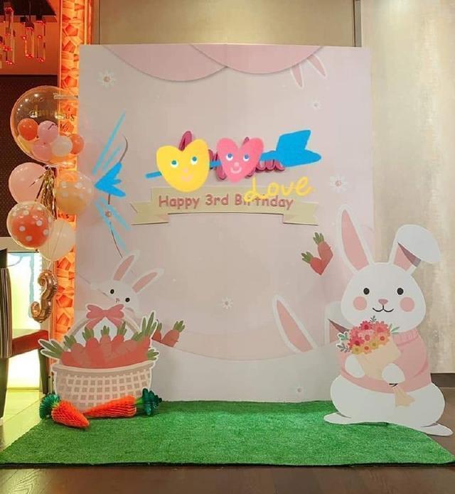 林心如为3岁爱女庆生,布置兔子派对宠溺满满,甜蜜抱怨:累挂了