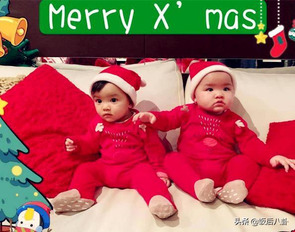 熊黛林双胞胎女儿近照曝光,姐姐大眼呆萌,妹妹继承妈妈名模气场