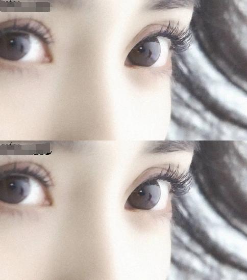 细看杨幂眼睛,真的整也整不出这种,眼眶天生长得好,黑眼球特大