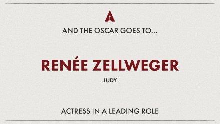 奥斯卡影后诞生!蕾妮·齐薇格摘桂冠,凭借《朱迪》圆梦