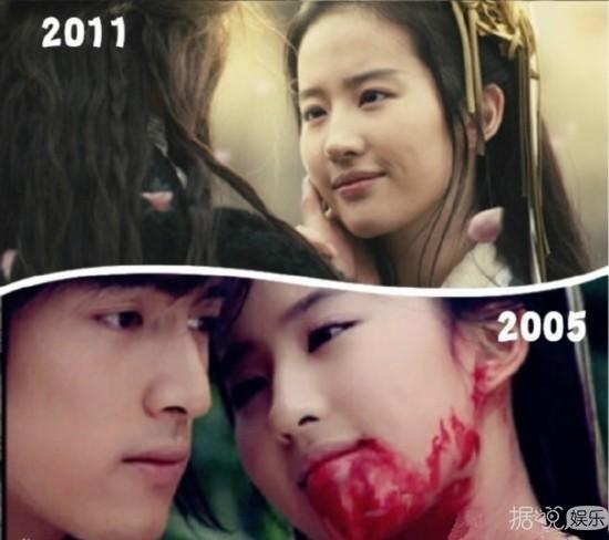 无论是十年前还是十年后刘亦菲依旧仙气十足 美颜只增不减