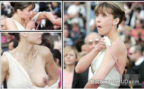 女星上衣脱落露乳 盘点当众走光露乳的10女星